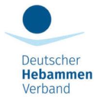 Logo des Deutschen Hebammen Verbandes, dem Helena Popke angehört.